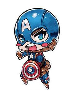 ArtStation - Chibi Captain America, Jr Pencil - Visit to grab an amazing super hero shirt now on sale! Marvel Kids, Marvel Art, Marvel Dc Comics, Marvel Heroes, Marvel Avengers, Chibi Characters, Marvel Characters, Comic Character, Character Design