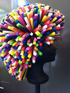 Costume Wigs, Costume Shop, Easy Costumes, Halloween Costumes, Foam Wigs, Rainbow Room, Crazy Hats, Festival Makeup, Ideas Para Fiestas