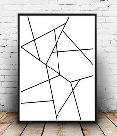 Impression dArt géométrique Printable Wall Art impression