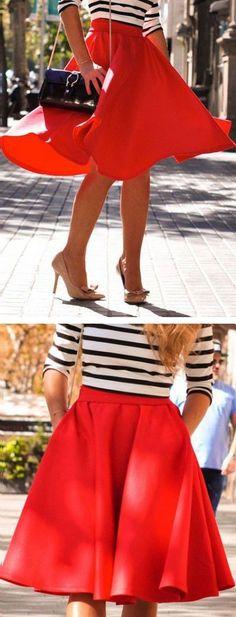 Red Swing Skirt ❤︎