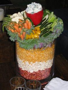 Barn party veggie platter
