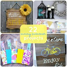 Great Ideas -- 22 Sunny Summer Projects from Tatertots and Jello Cute Crafts, Diy And Crafts, Crafts For Kids, Decor Crafts, Summer Diy, Summer Crafts, Summer Ideas, Craft Day, Diy Projects To Try
