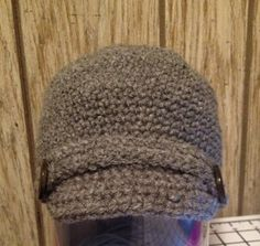 Crocheted Beanie with Brim on Etsy, $20.00