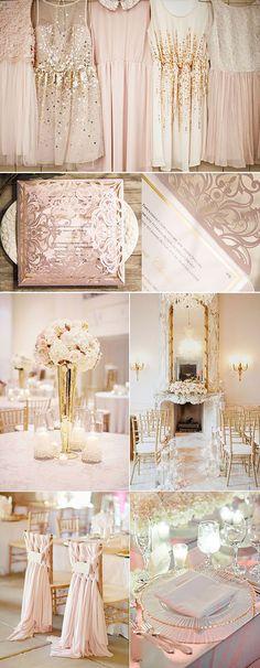 Pink & Gold Wedding Color