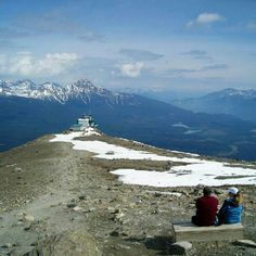 On top the Tramway, Canada's longest and highest tram, Jasper National Park, Alberta, Canada