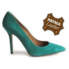 Stiletto ante verde 49,90€  www.calzadospayma.com