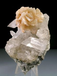 Ankerite rose on Quartz / Spruce Ridge, King County, Washington
