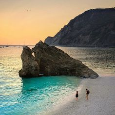 The beach at Monterosso (Liguira, IT)Monterosso is one of the five villages in Cinque Terre. Places Around The World, Oh The Places You'll Go, Places To Travel, Places To Visit, Dream Vacations, Vacation Spots, Magic Places, Places In Italy, Destination Voyage