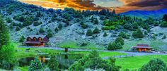 72-Acre Red Draw Ranch, incredible sunset, Edwards, CO, USA