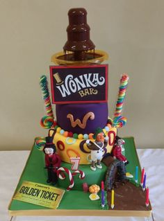 This was made for my sons birthday.  He wanted the chocolate fountain to work so mummy had her work cut out with this one.