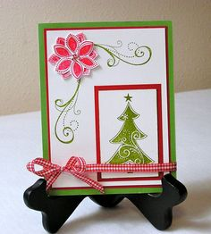 Handmade Stampin Up Christmas Card