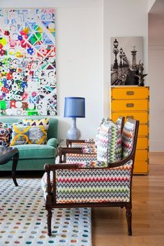 Design Lessons from Seven Super Colorful Living Rooms