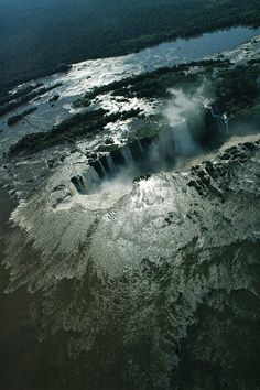 Brazil - Iguazú Falls viewed from a helicopter