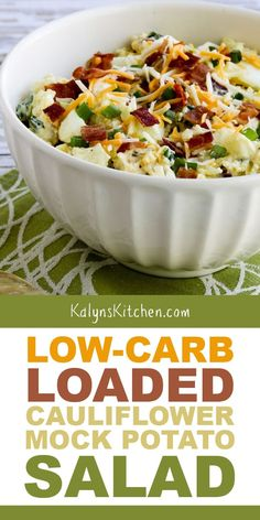 When we tested this recipe for Low-Carb Loaded Cauliflower Mock Potato Salad, we couldn't stop eating it! And not only is this low-carb, but it's . Cheap Clean Eating, Clean Eating Snacks, Healthy Eating, Clean Lunches, Kid Lunches, Kid Snacks, Lunch Snacks, School Lunches, Loaded Cauliflower