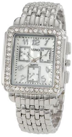 3c9b69bdbef XOXO Women s  XO5313 Silver-tone Bracelet With Rhinestones Accent Watch  Relógios Fashion