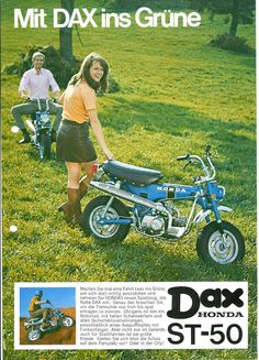 MiniTrailParts.com_german dax brochure  These and the Yamaha Chappy were (and still are) used in the south of France as general; runabout. Popular with the ladies possibly because they are quite low.