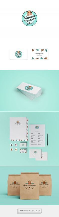 Buena Cream Ice Cream Shop Branding by Lucia Gomez | Fivestar Branding Agency – Design and Branding Agency & Curated Inspiration Gallery