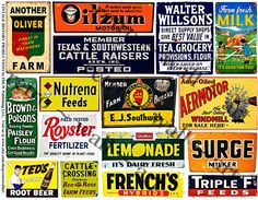 Rusty Metal Signs, Farm Tin Signs, Vintage Style Paper, STICKERS, Fresh Milk Sign, Country Store Signs, Scrapbook Collage, Clip Art, 208a by retrowallart on Etsy