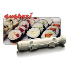 Sushezi Sushi Made Easy Makes perfectly round, restaurant-quality sushi at home Includes sushi tube, plunger, and endcap Easy-to-use; add ingredients and plunge rice onto nori sheet Dishwasher-safe Measures 12 inches by 2-1/2 inches by 2-1/2 inches