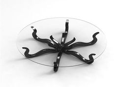 glass octopus coffee table!