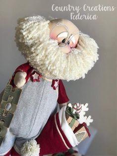 Our new santa Crafty Christmas Gifts, Handmade Christmas Decorations, Christmas Gnome, Christmas Sewing, Christmas Art, Christmas Projects, Christmas Crafts, Christmas Ornaments, Christmas Fashion