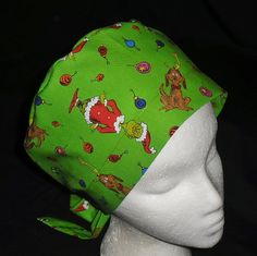 f56ace84080 Dr. Seuss Christmas The Grinch And His Dog Max Pediatric Nurses Scrubs Cute  Comfy Hats