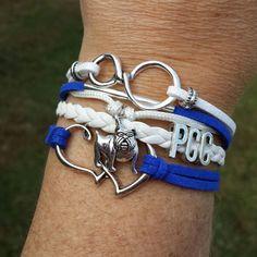 PCC Pitt Community College Multistrand Friendship by setzjewelry