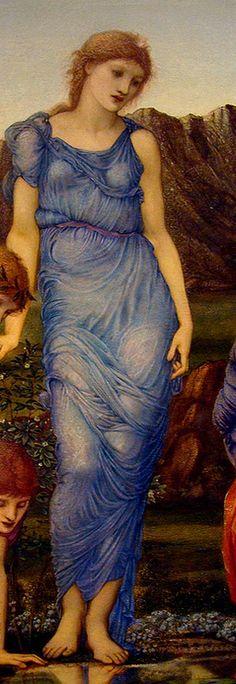 Edward Burne-Jones  'The Mirror of Venus' (detail) 1875