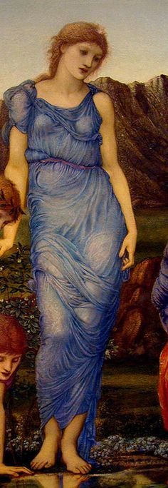 Edward Burne-Jones  'The Mirror of Venus' (detail) 1875