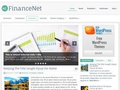 FinanceNet Free WordPress Theme