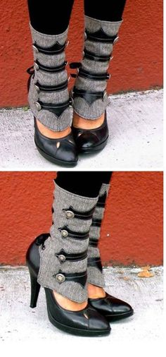 Cool accessory to jazz up your shoes..... I think they make nice ankle warmers, too.... :)