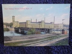 Early Elgin National Watch Factory in Elgin, Il Illinois PC Elgin Illinois, Worlds Largest, Postcards, Taj Mahal, Louvre, History, Building, Factories, Travel