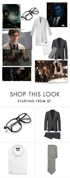 """Hank McCoy(Beast)"" by bobthechob ❤ liked on Polyvore featuring Brooks Brothers, men's fashion and menswear"