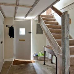 Take a tour around this stunning Sussex cottage - Country House Decor - Cottage Staircase, Cottage Hallway, Country Hallway, Country Decor, Country House Interior, Home Interior Design, Interior Architecture, Country Style Homes, Cottage Style
