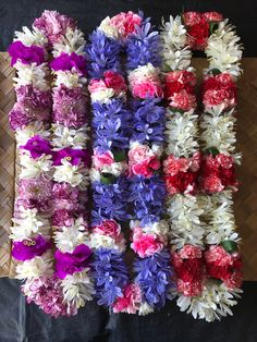 Flower Garland Wedding, Flower Garlands, Hawaiian Leis, Hawaiian Islands, Fresh Flowers, 4th Of July Wreath, Flower Designs, Flower Arrangements, Wreaths