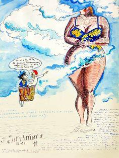Erich Fried, Fellini Films, Travel Sketchbook, Beautiful Film, American Comics, Typography Prints, New Blue, Caricature, Fairy Tales