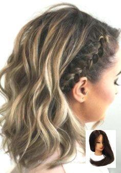 Short Hair Styles Easy, Braids For Short Hair, Short Hair Cuts, Curly Hair Styles, Medium Length Hair Braids, Pixie Cuts, Medium Length Updo Hairstyles, Ideas For Short Hair, Curl Short Hair
