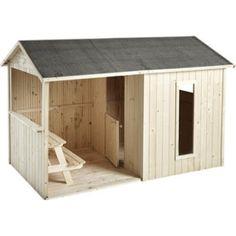 Maisonnette en bois typhaine sur pilotis soulet leroy for Cabane de jardin en bois leroy merlin
