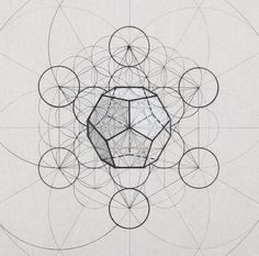 Rafael Araujo Draws Perfect Illustrations by Hand Using Math's Golden Ratio Sacred Geometry Patterns, Sacred Geometry Art, Geometric Drawing, Geometric Shapes, Platonic Solid, Islamic Art Pattern, Fibonacci Spiral, Meditation Art, Math Art