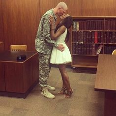 Gorgeous interracial military couple #love #wmbw #bwwm