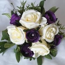 cadbury purple wedding bouquets - Google Search