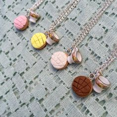 Concha y teacup necklace pan dulce mexican sweet bread