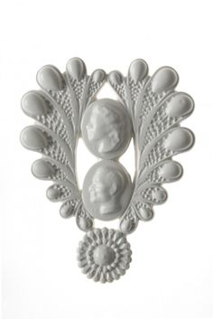 New Designers One Year On Isabelle Busnel DOUBLE CAMEO BROOCH