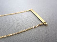 Bar Necklace Gold Bar Necklace Simple Gold necklace by Muse411, $30.00