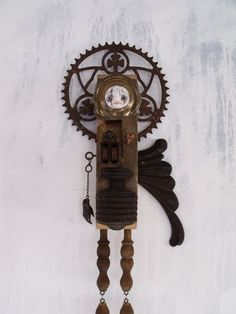Large Wall Art - 30 inches - Angel - Assemblage - Mixed Media- Art Doll - Found Objects - Sculpture - Recycled Art - Reclaimed Wood. $425.00, via Etsy.