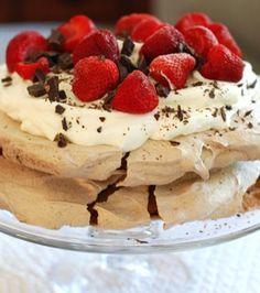 Double Chocolate Strawberry Pavlova