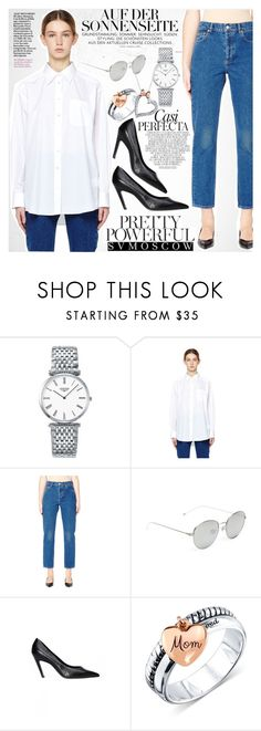 """""""Job interview"""" by vanjazivadinovic ❤ liked on Polyvore featuring Longines, Maison Margiela, Balenciaga, Ann Demeulemeester, Whiteley, Unwritten, Disney, polyvoreeditorial and svmoscow"""