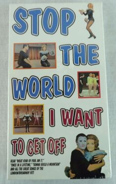Stop The World I Want To Get Off VHS Millicent Martin Anthony Newley Rare SEALED