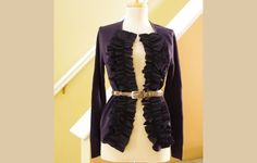 Loft Inspired Ruffle Front Cardigan Diy Tutorial · How To Make A Cardigan · Dressmaking on Cut Out + Keep Diy Clothing, Sewing Clothes, Costura Diy, Look Chic, Dressmaking, Diy Fashion, My Style, Diy Tutorial, Tutorial Sewing