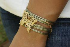 צמיד פרפר ירוק | סיגל גרין תכשיטים | מיי סטורס